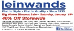 Leinwands january blow out sale