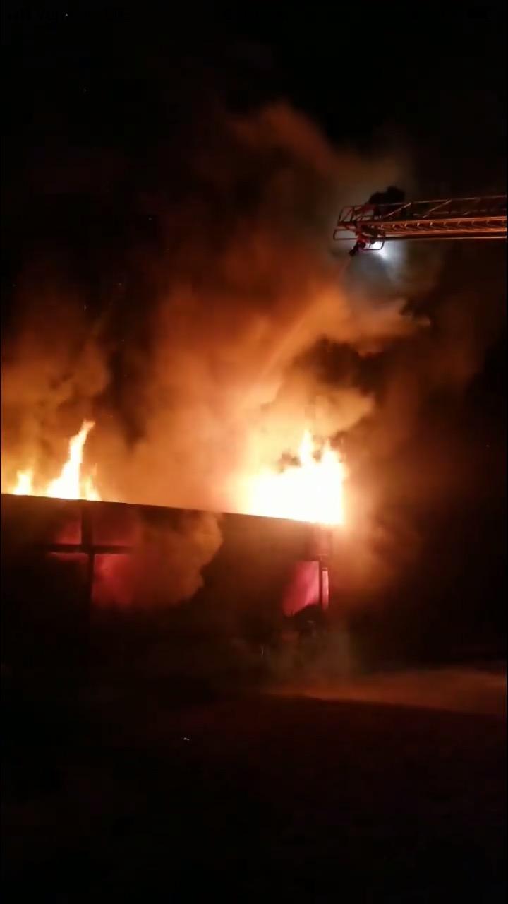 Traincar fire Clarkton 1