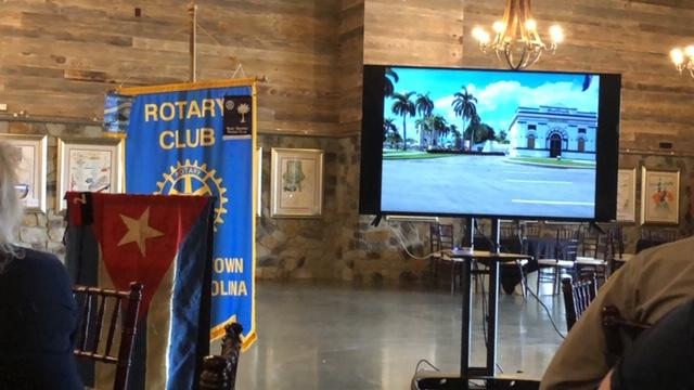 Elizabethtown Rotary meeting Cuba