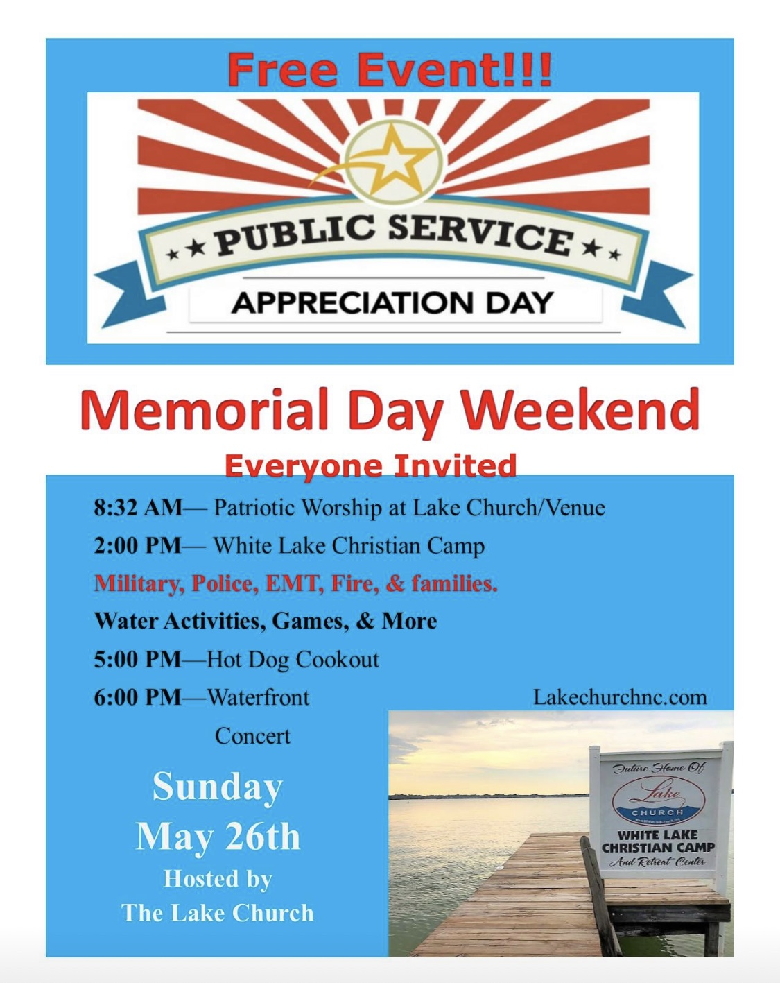 Memorial Day Lake Church 2019
