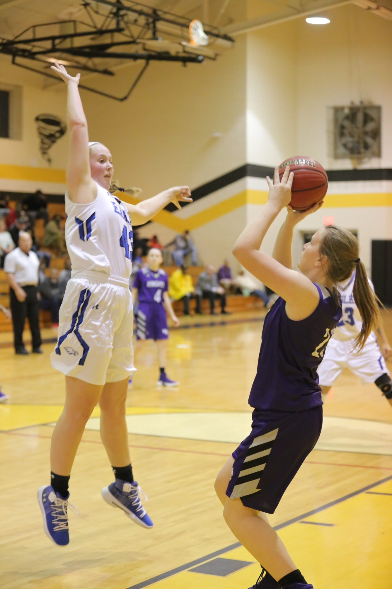 West Bladen vs East Bladen girls playoff basketball 13