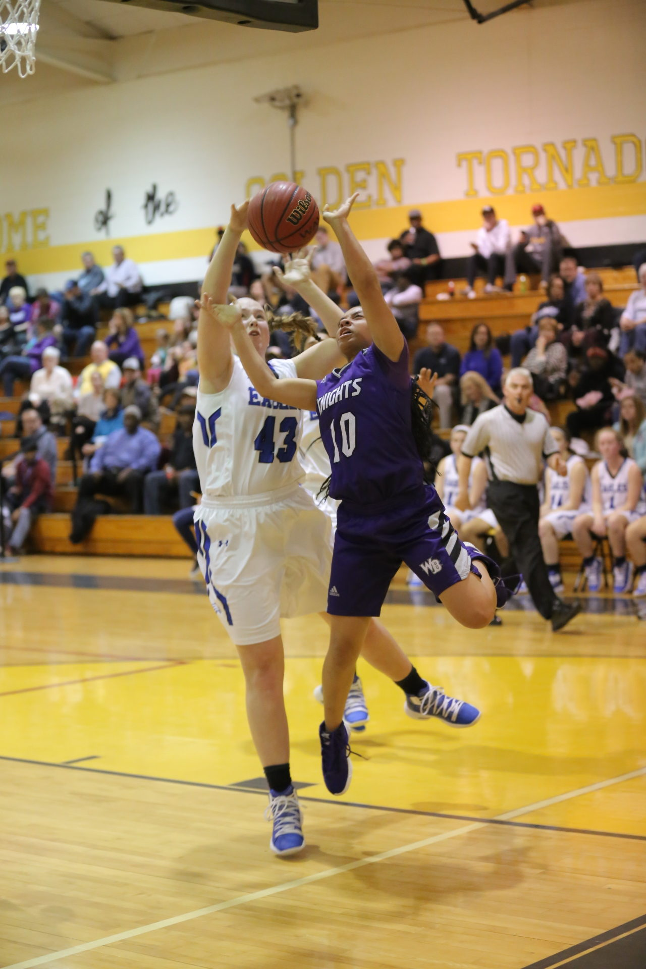 West Bladen vs East Bladen girls playoff basketball 9