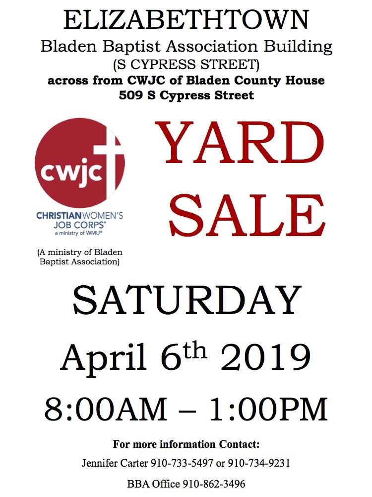 CWJC Yard Sale Sign April 6 2019 a (1)