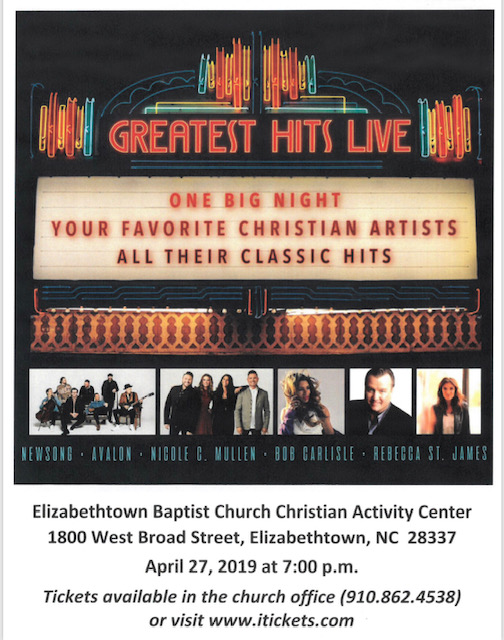 24aa923bce0bd Greatest Hits Live Tour to make stop at Elizabethtown Baptist Church ...