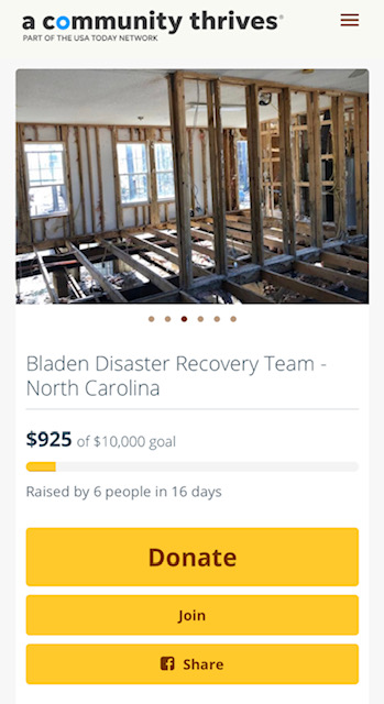 Crowd Rise Bladen County Disaster Relief Fundraiser