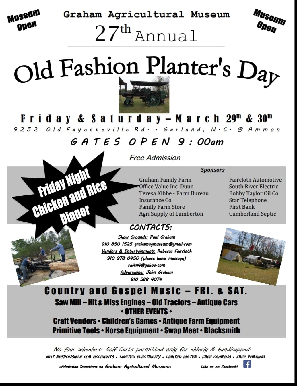 Old Fashioned Planters Day 2019