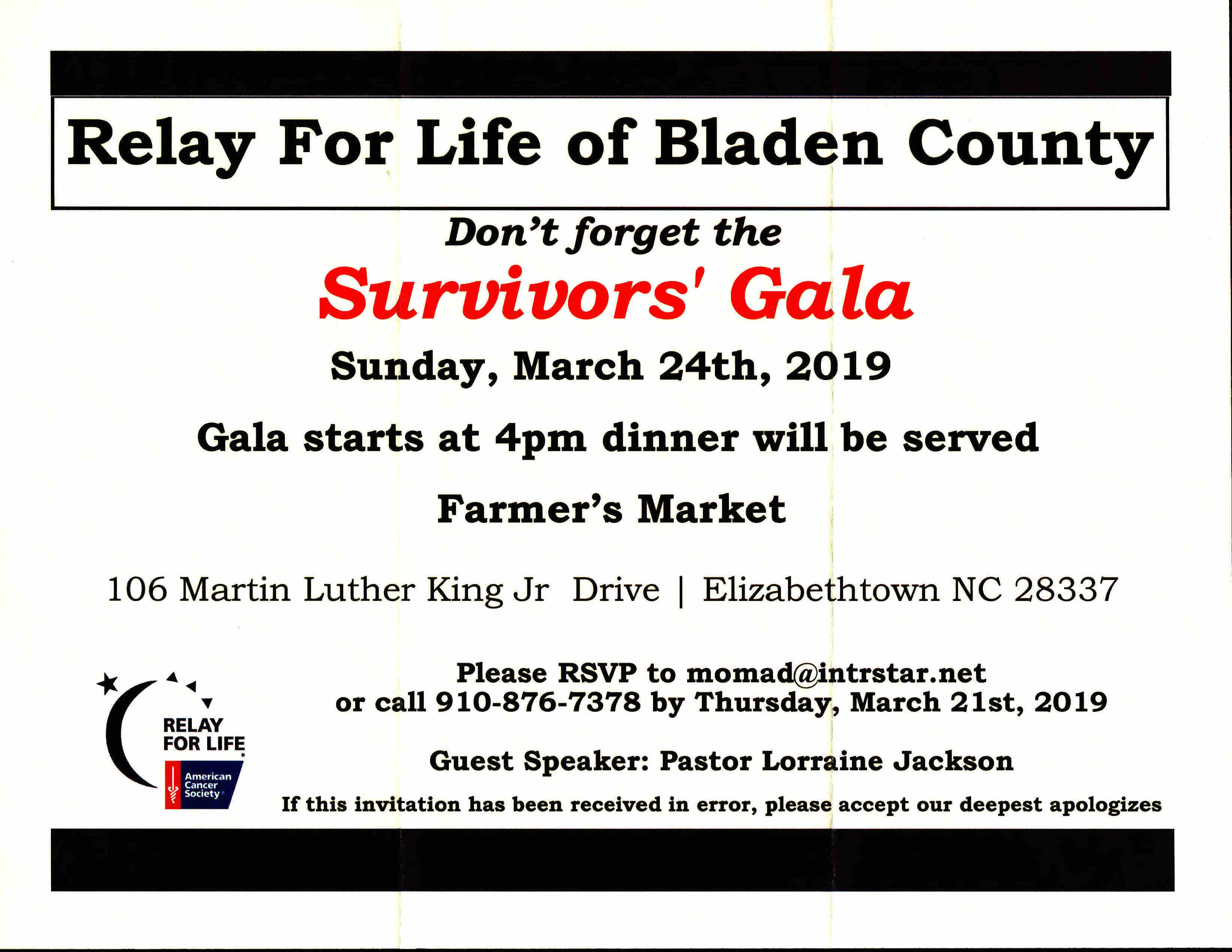 Relay for Life gala