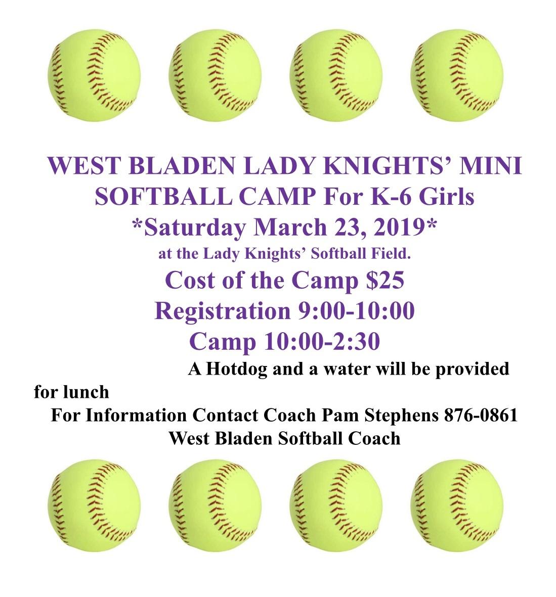 West Bladen Lady Knights Mini Camp