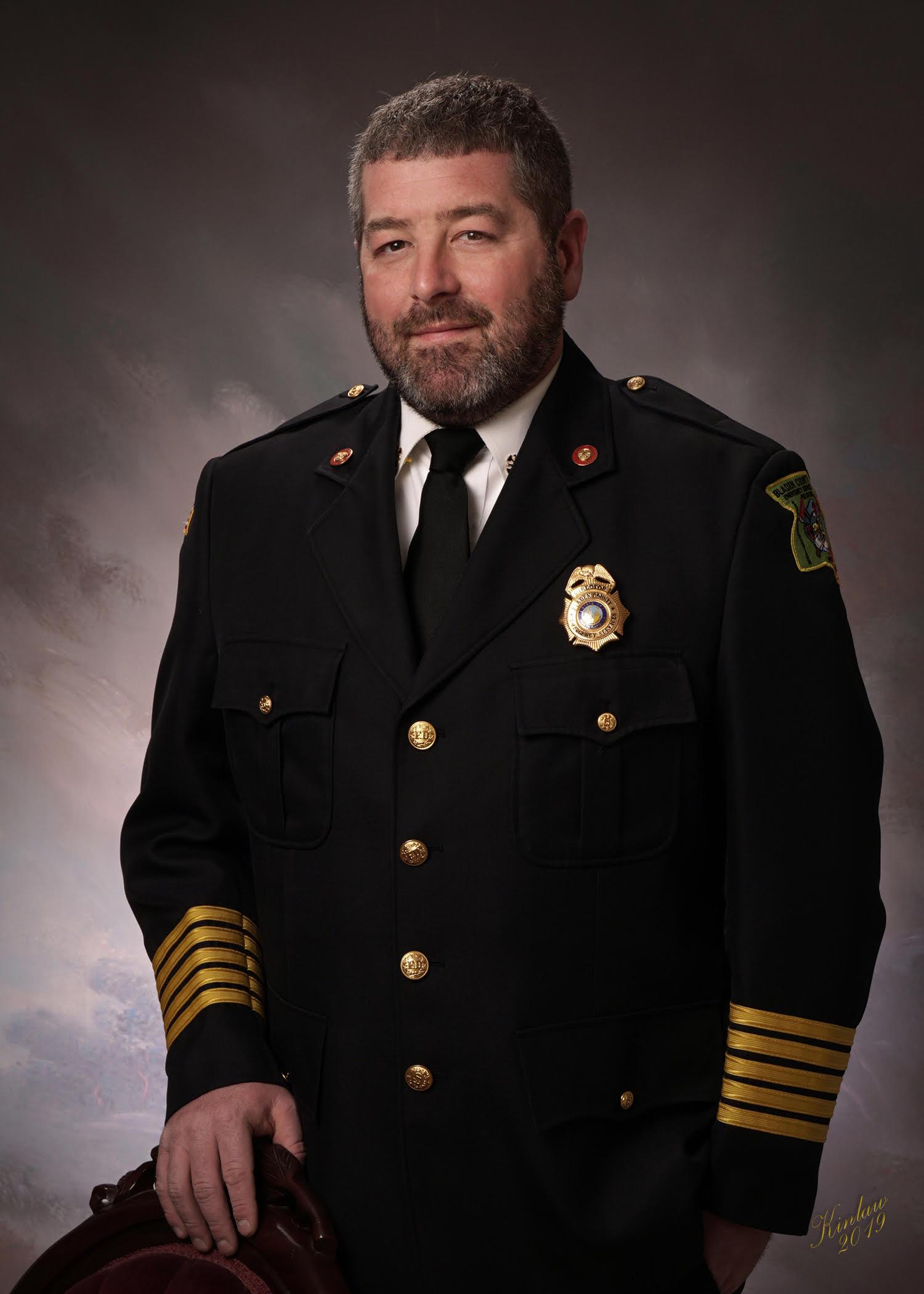 Bradley Kinlaw in uniform