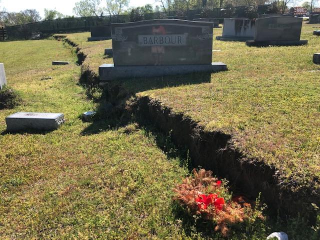 Cemetery Damage 3 4:3:2019