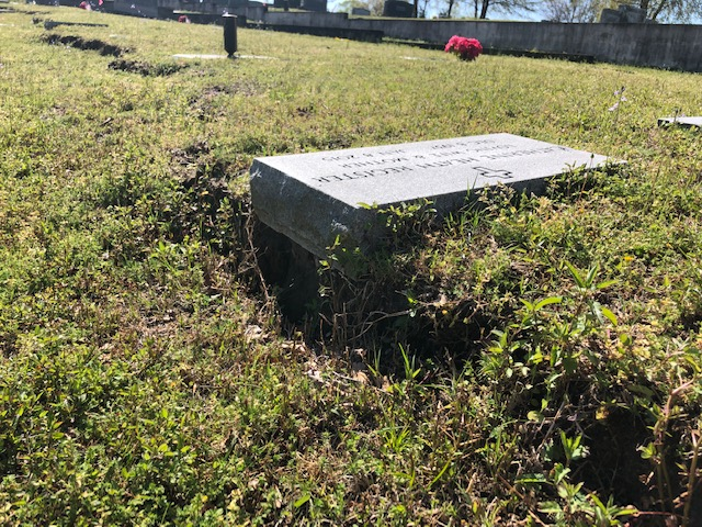 Cemetery Damage 6 4:3:2019