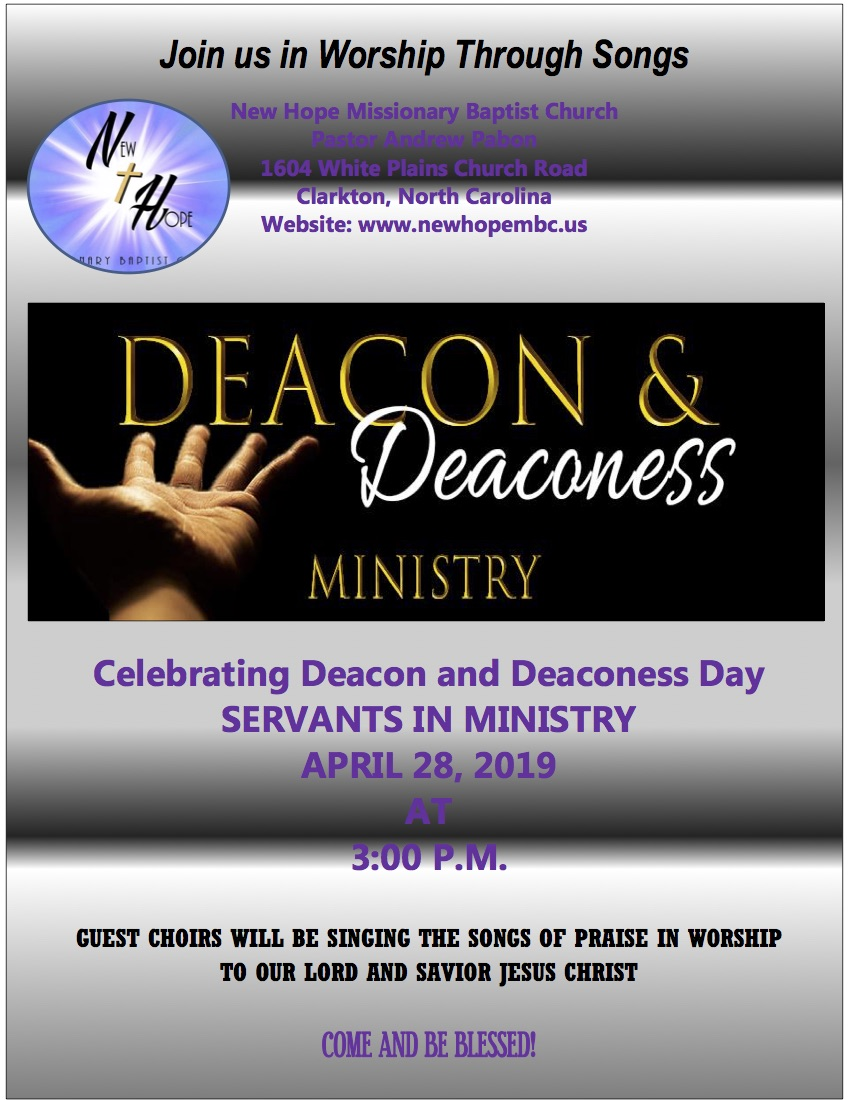 Deacon Deaconess Flyer take down April 28