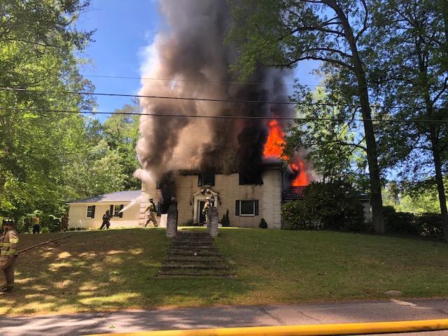 Fire on Woodland Street In Elizabethtown