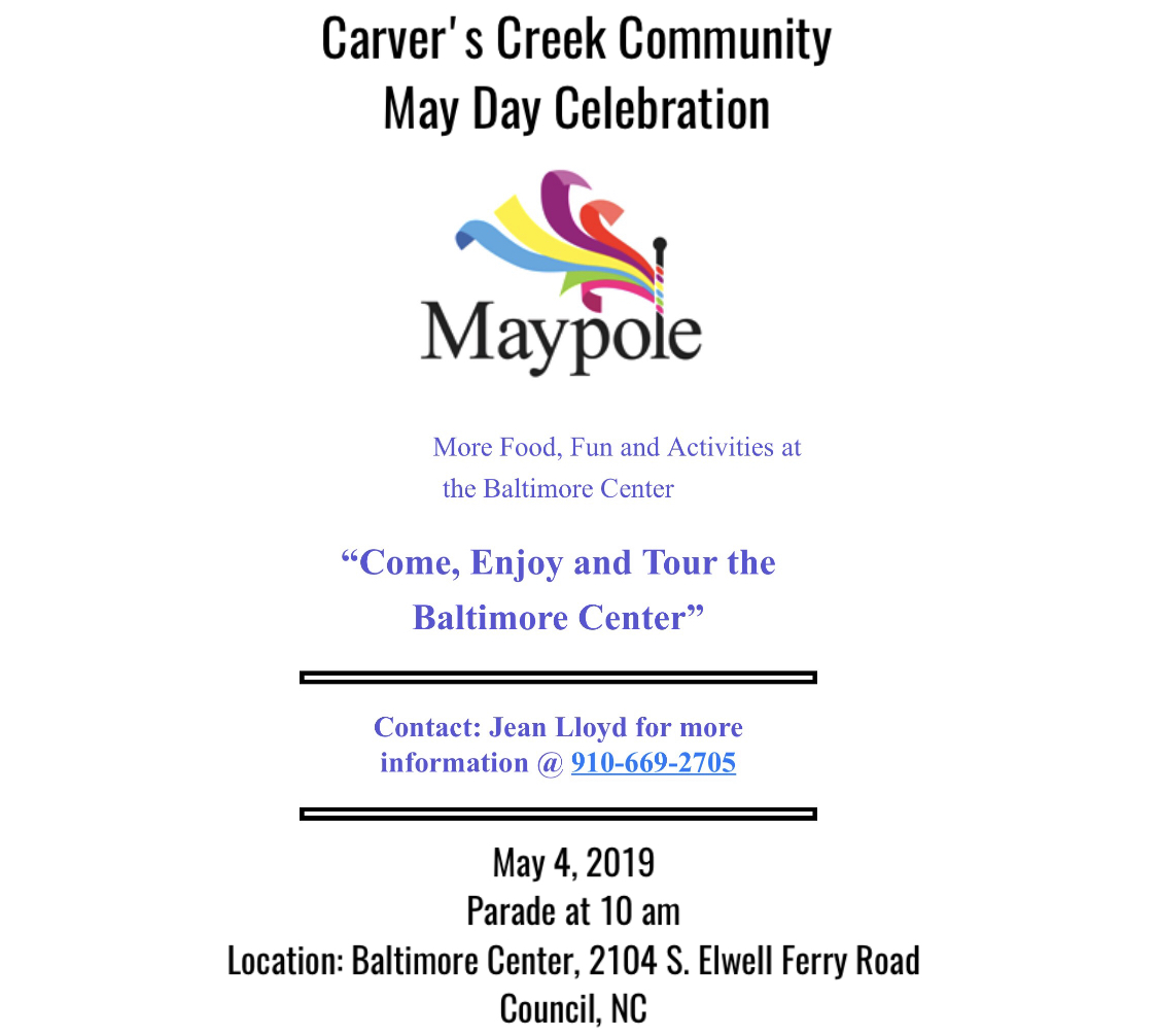 Carver's Creek Community May Day