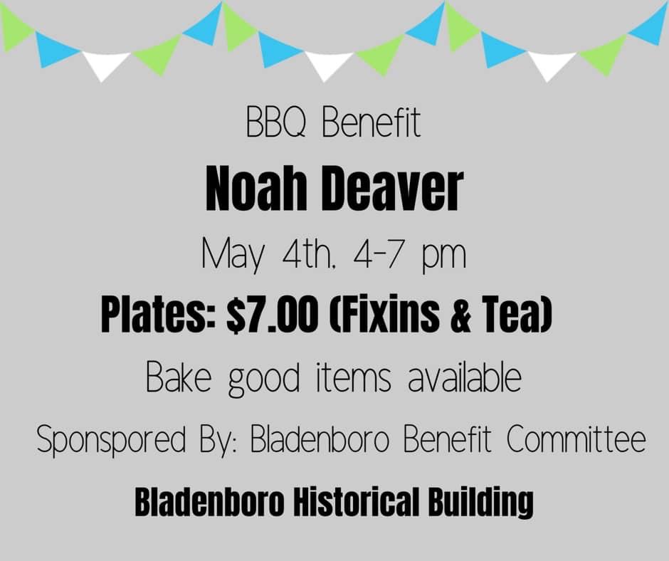 Noah Deaver Fundraiser remove May 4