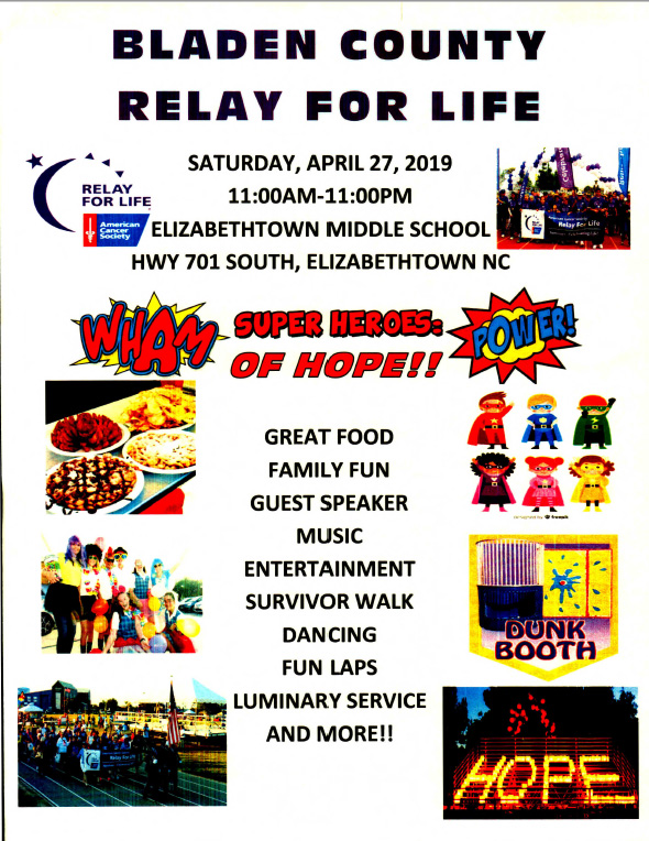 Relay for Life remove April 27