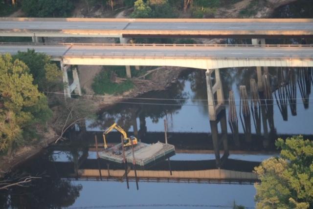 Bridge debris removed 1