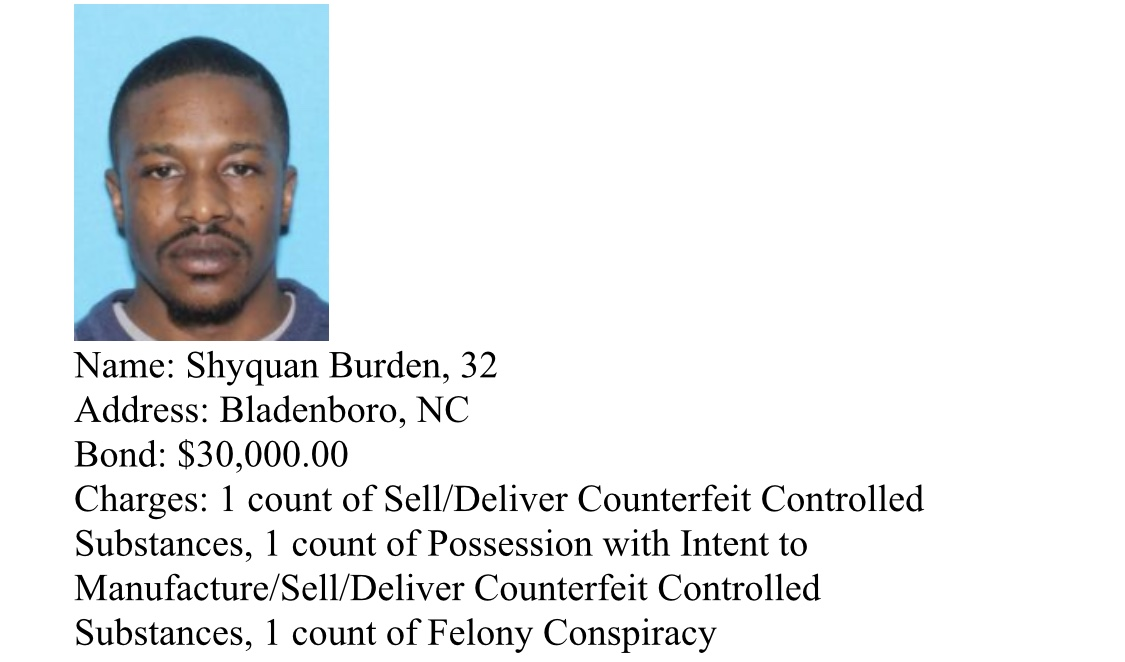 BurdenArrests and suspects wanted by Bladen County Sheriff's Narcotics Unit