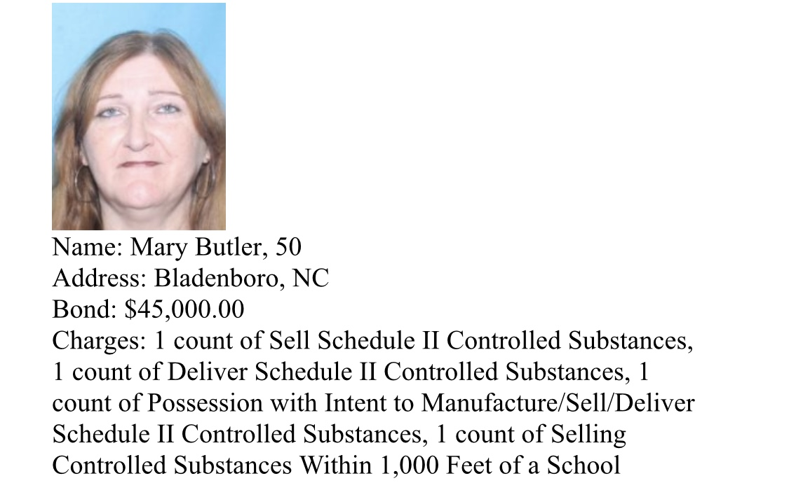 Butler Arrests and suspects wanted by Bladen County Sheriff's Narcotics Unit