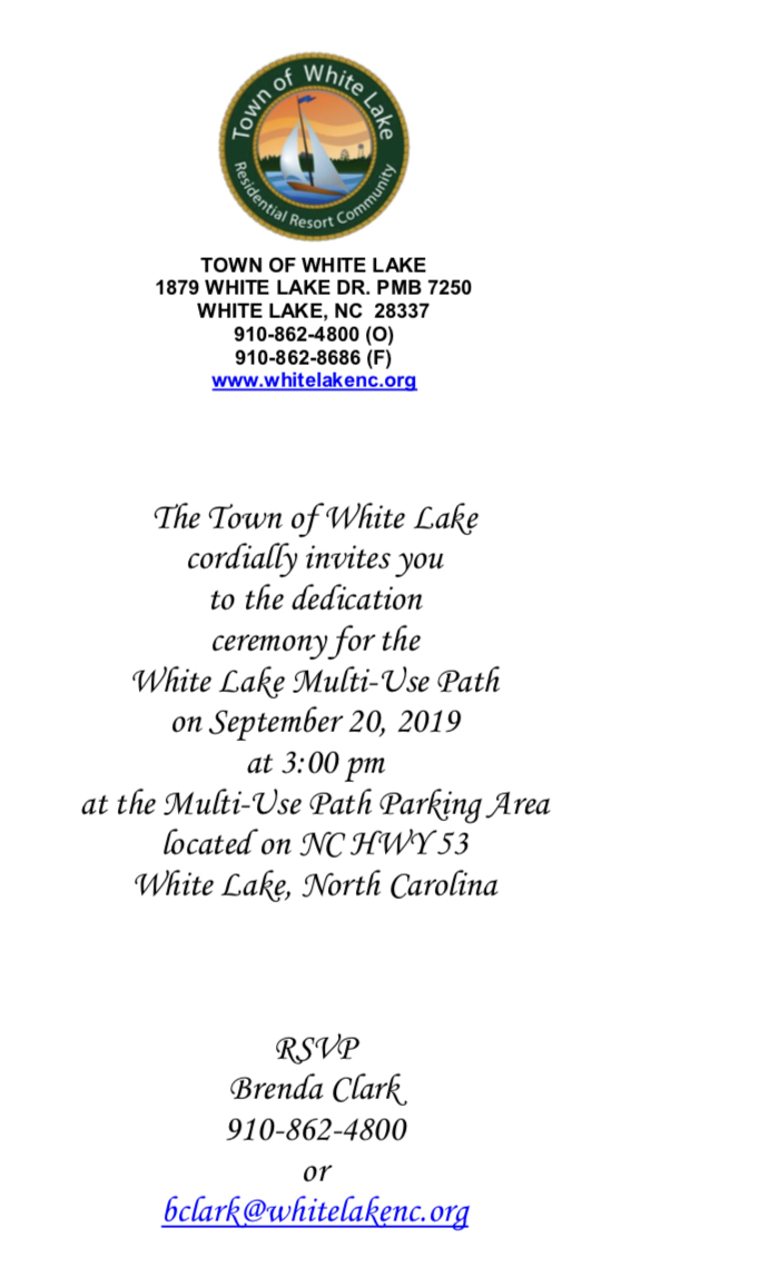 Sept 20 White Lake Invites for dedication