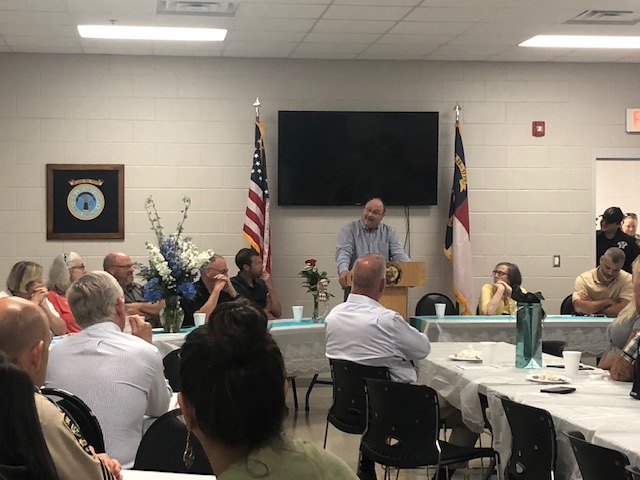 Bladen County Sheriff Major Larry Guyton of Bladen County retires