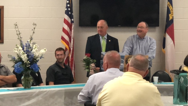 Bladen County Sheriff Major Larry Guyton of Bladen County retires McVicker