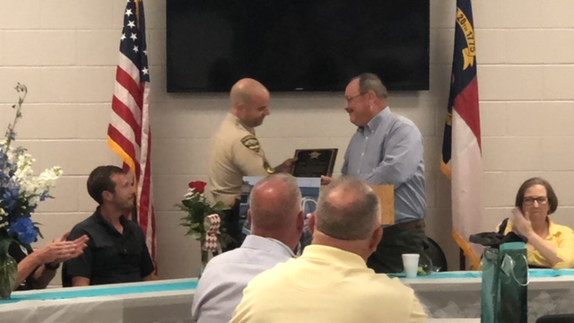 Bladen County Sheriff Major Larry Guyton of Bladen County retires Richard Allen
