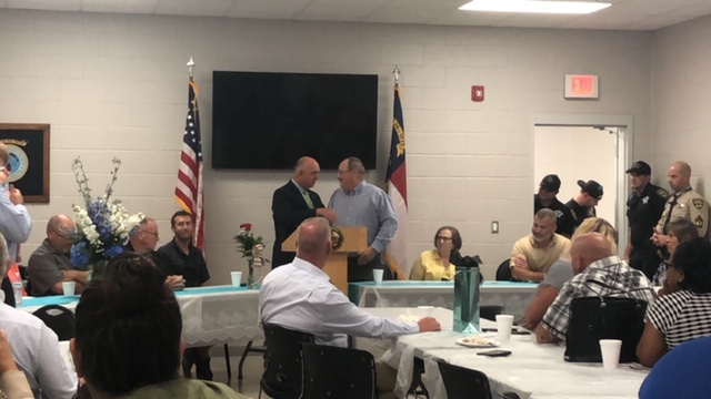 Bladen County Sheriff Major Larry Guyton of Bladen County retires Sheriff