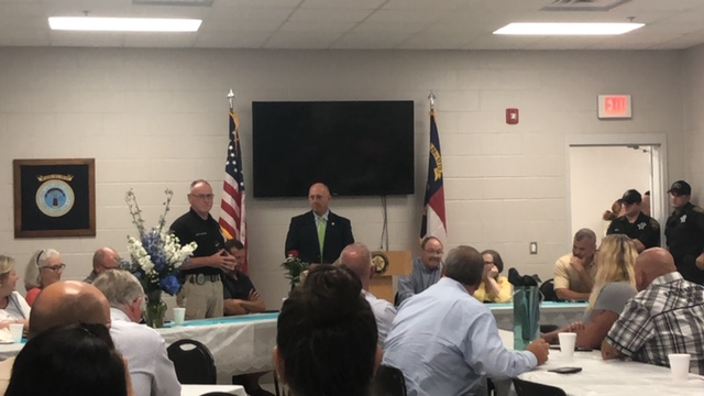 Bladen County Sheriff Major Larry Guyton of Bladen County retires brother