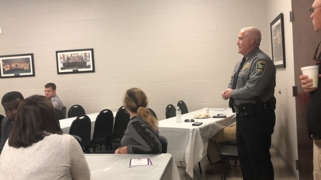 Bladen County Sheriff Major Larry Guyton of Bladen County retires speaker
