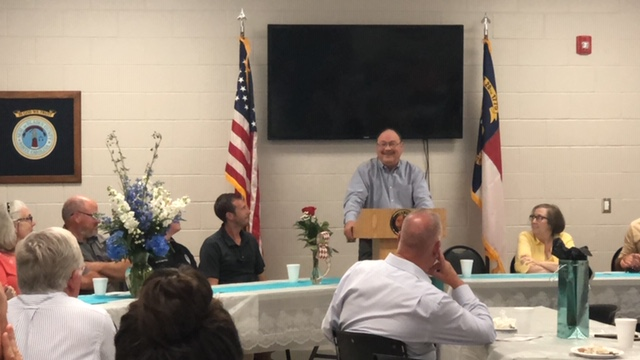 Smiling Bladen County Sheriff Major Larry Guyton of Bladen County retires