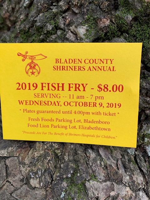 2019 Shriners Fish Fry