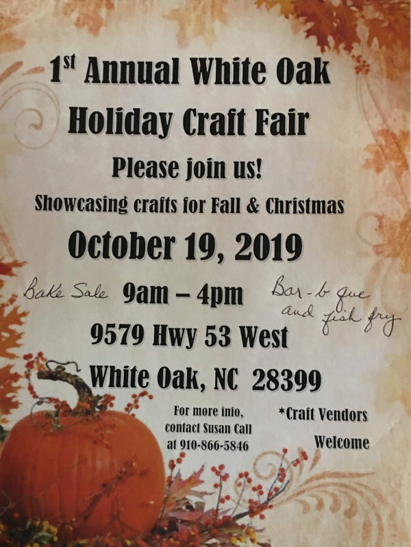 Oct 19 Holiday craft fair