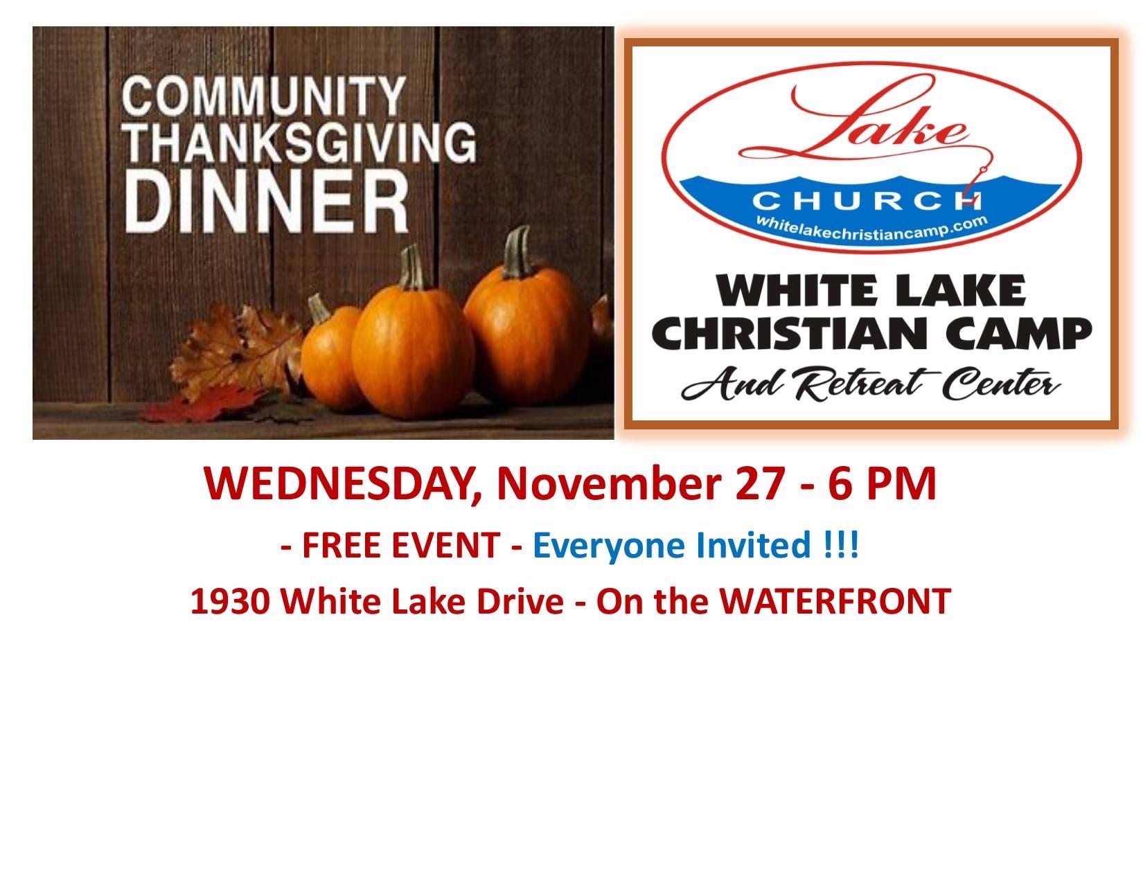 Lake Church dinner