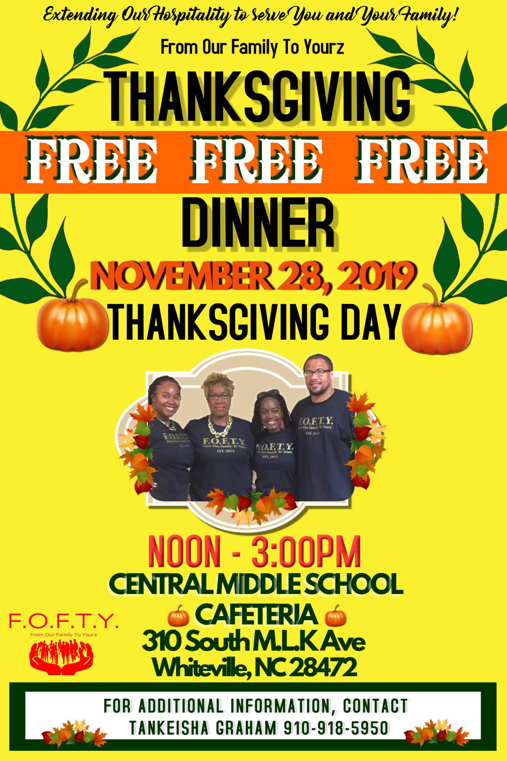 Thanksgiving Dinner in Whiteville