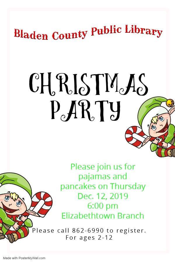 Dec 12 Bladen County Public Library Holiday program