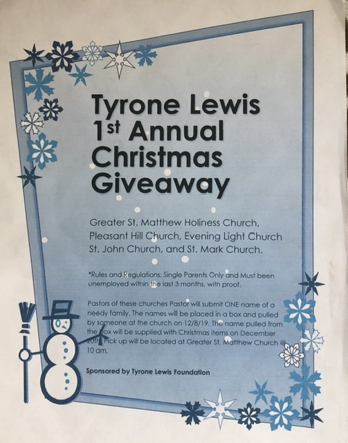 Tyrone Lewis 1st annual Christmas