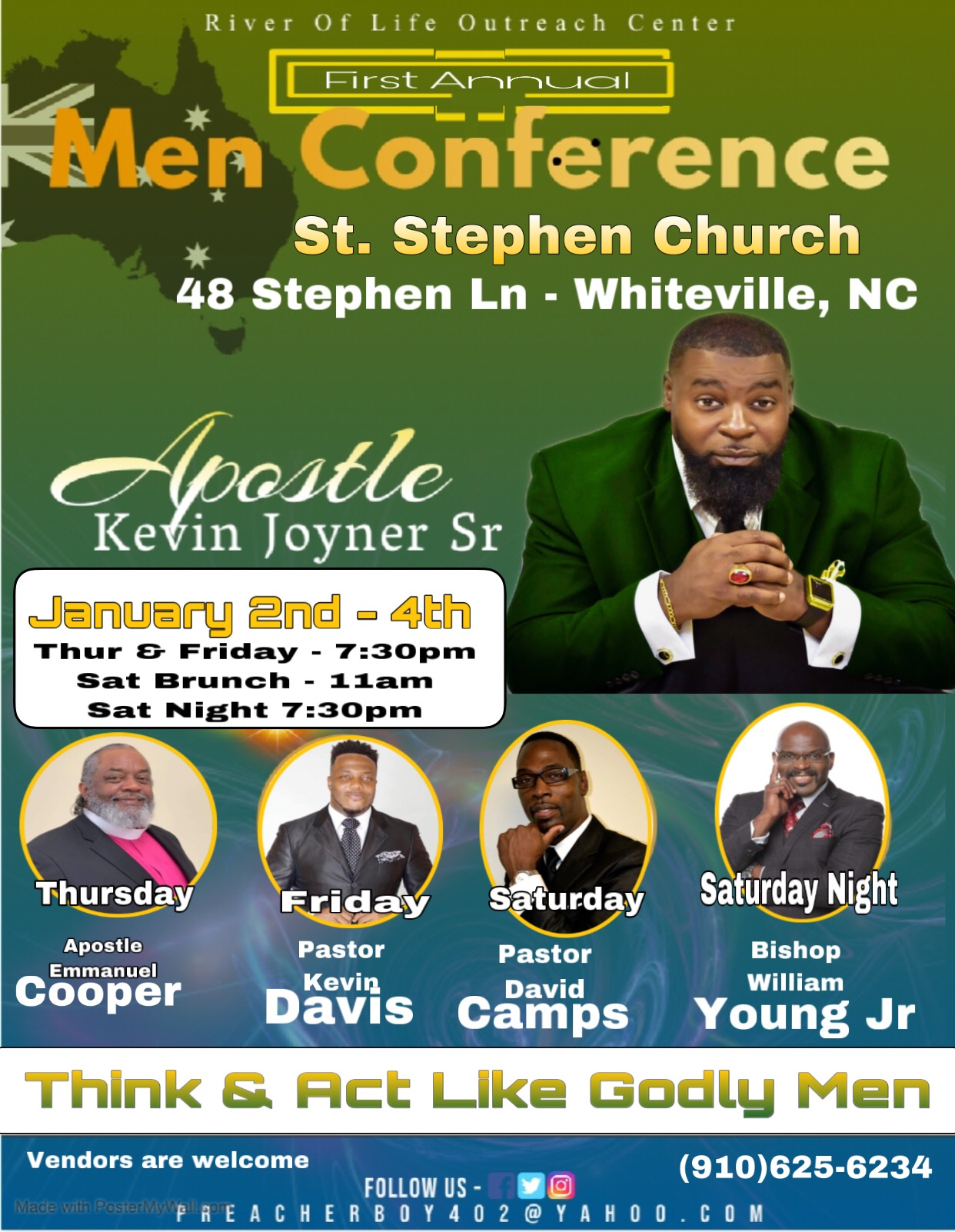 First Annual Men's Conference River of Life Outreach Center