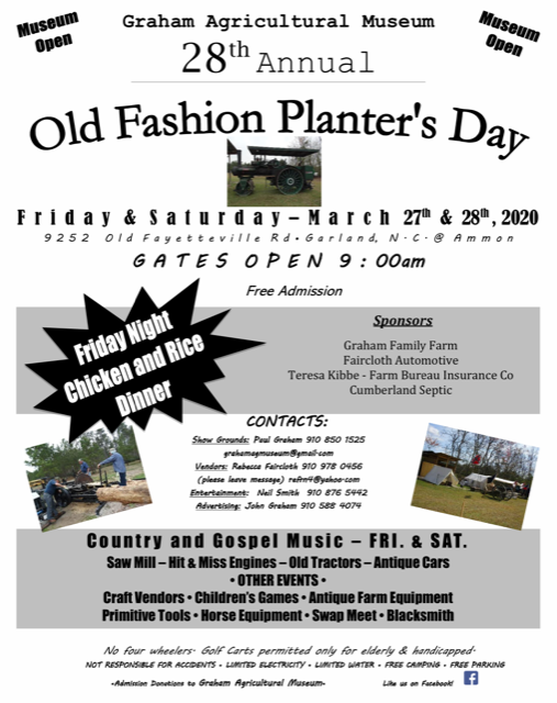 28th Annual Old Planter's Day