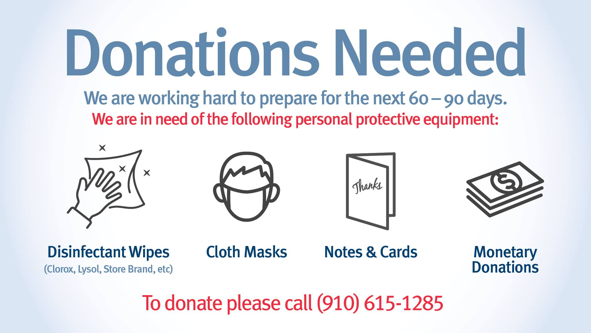 Donations needed at Cape Fear Valley