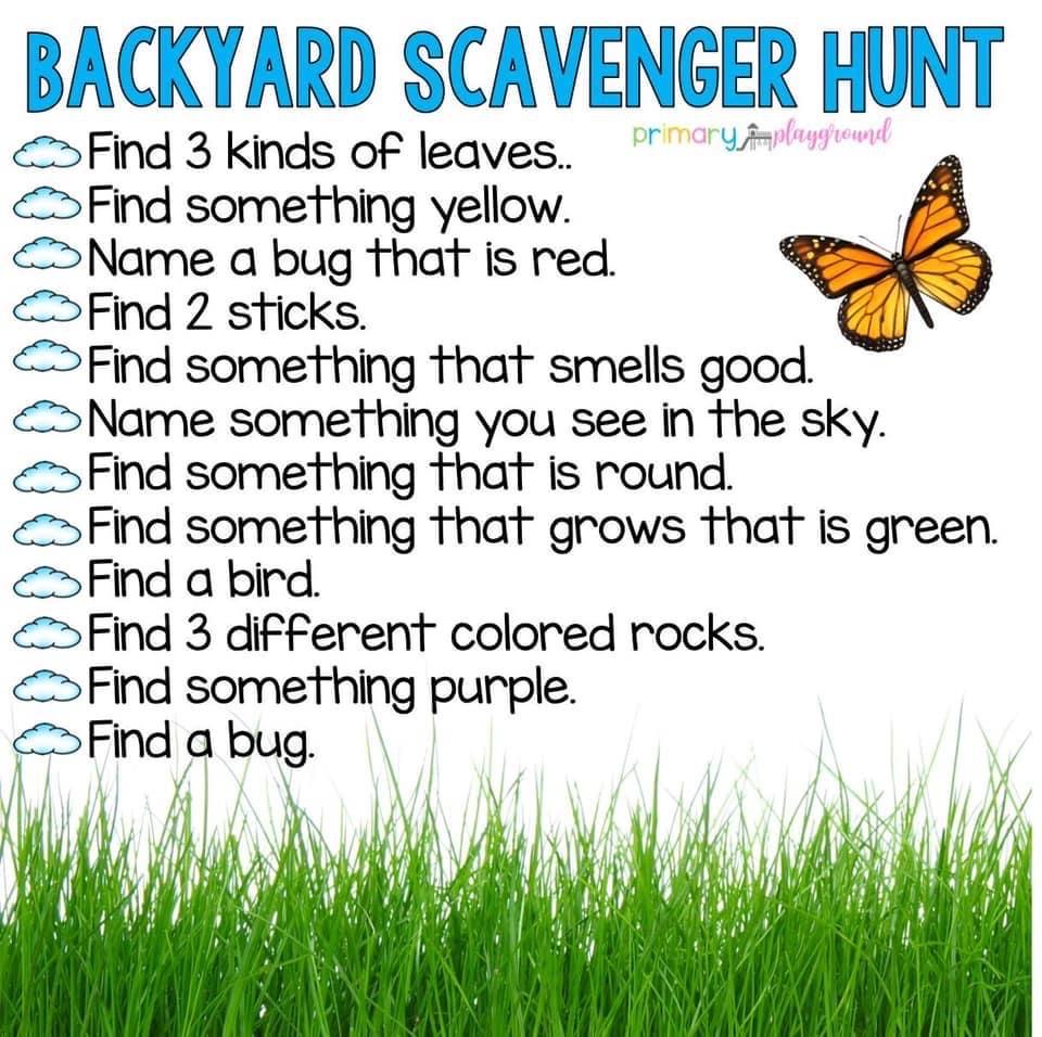 Backyard Scavenger Hunt - BladenOnline.com