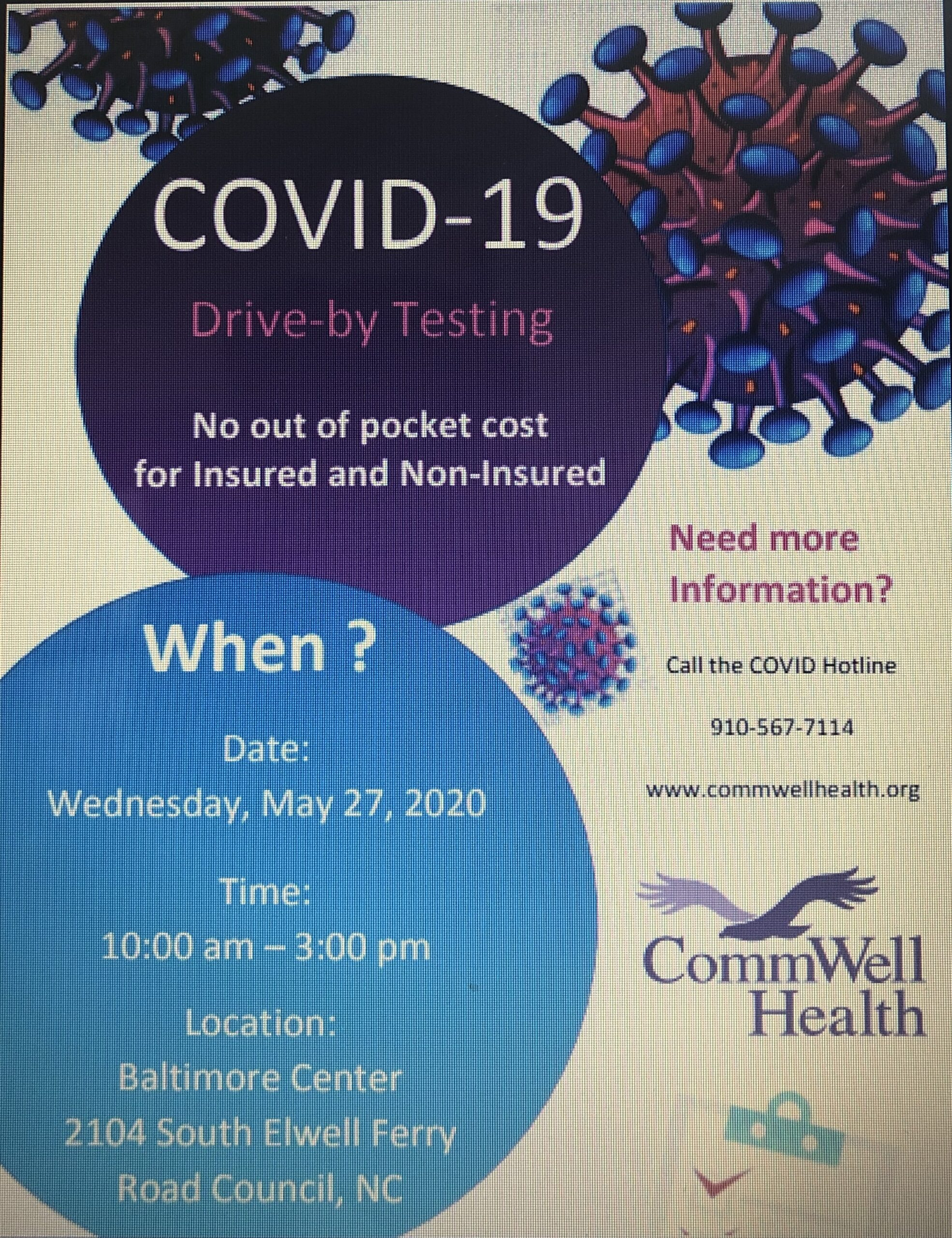 COVID Flyer - Bladen County Health Dept