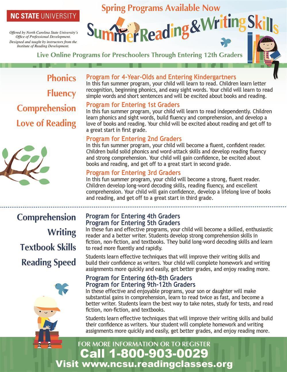 North Carolina State University Reading Programs-page-0