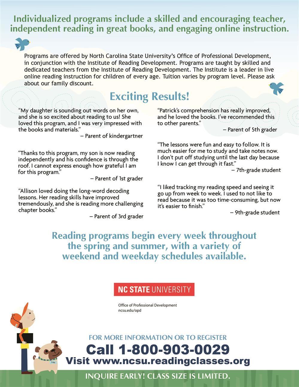 North Carolina State University Reading Programs-page-1