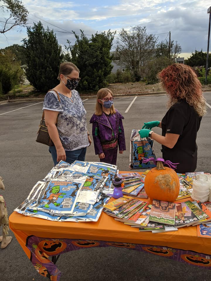 Halloween 2020 at library 1