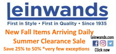 Text with Leinwands end of summer sale ad